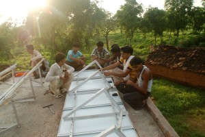 The entire village decided to do all the fixing of panels themselves